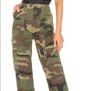 RE/DONE High Waisted Cargo Pant in Camo*Brand New*